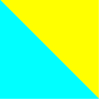 Light blue - Fluo yellow